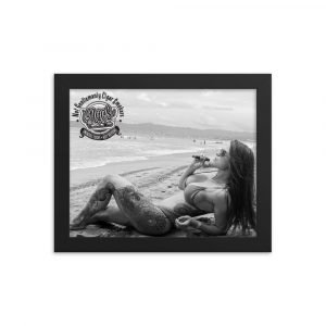 The First Lady – Beach Framed Poster